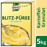 Knorr Kartoffel- Granulat Blitz- Püree mit Vollmilch 5 KG - Knorr Blitz-Püree – gelingsicher und schnell auch für größere Mengen zuzubereiten.