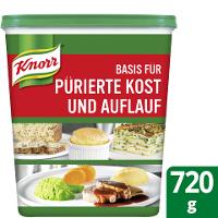 Knorr Basis für pürierte Kost / Auflauf 720G - Aber die Lebensfreude steigt, wenn es schmeckt und dabei noch gut aussieht.