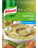 Knorr Bitte zu Tisch! Gebundene Gemüse Suppe 4 Teller -