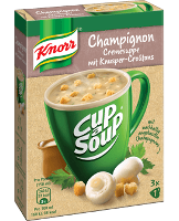Knorr Cup a Soup Champignoncreme Suppe Instantsuppe 3x1 Teller -
