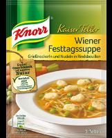 Knorr Kaiser Teller Wiener Festtags Suppe 3 Teller -