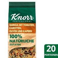 KNORR Quinoa mit Karotten, Oliven und Kapern 548 g - Knorr Zubereitung für Getreidegerichte –100% natürliche Zutaten mit einem Handgriff.
