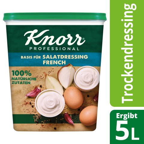 Knorr Basis für Salatdressing French 100% natürliche Zutaten 550 g -