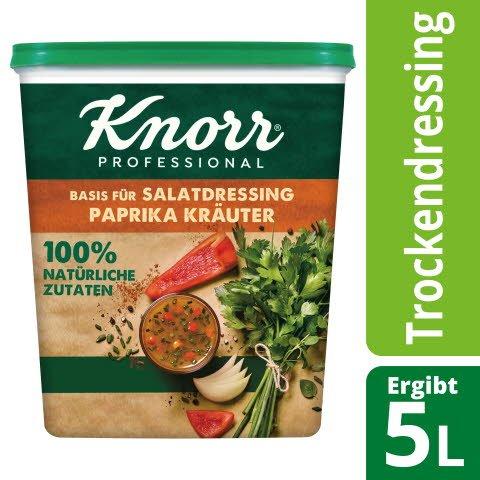Knorr Basis für Salatdressing Paprika Kräuter 100% natürliche Zutaten 500 g