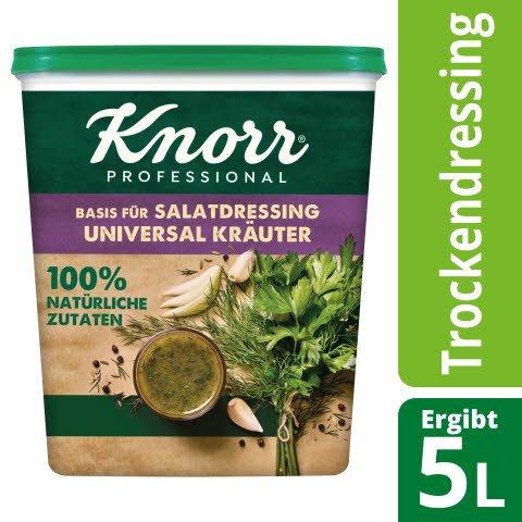 Knorr Basis für Salatdressing Universal Kräuter 100% natürliche Zutaten 500 g
