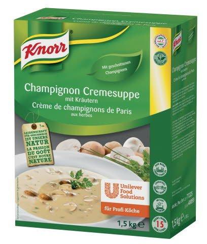 Knorr Champignon Cremesuppe mit Kräutern 1,5 KG