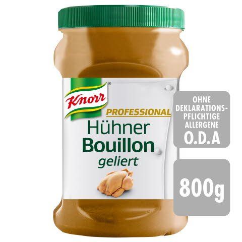 Knorr Chicken Bouillon Jelly RAB GF 800 g - KNORR PROFESSIONAL Bouillons geliert. So gut wie selbst gemacht.