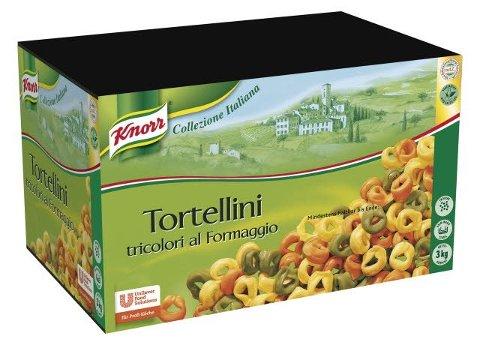 Knorr Collezione Italiana Tortellini tricolori al formaggio 3 KG