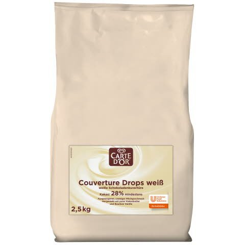 Carte D'or Couverture Drops weiß 2,5 KG