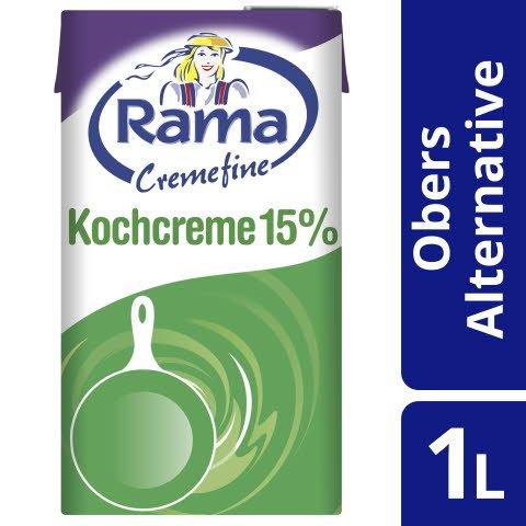 Rama Cremefine Kochcreme - Alternative zu Kochsahne auf Pflanzenölbasis 1 L