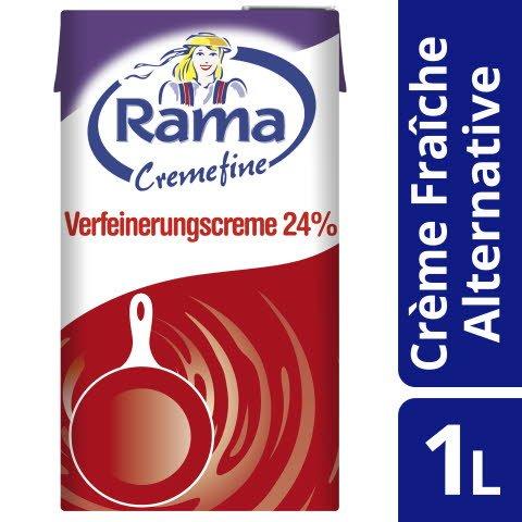 Rama Cremefine Verfeinerungscreme - Alternative zu Crème Fraîche auf Pflanzenölbasis 1 L