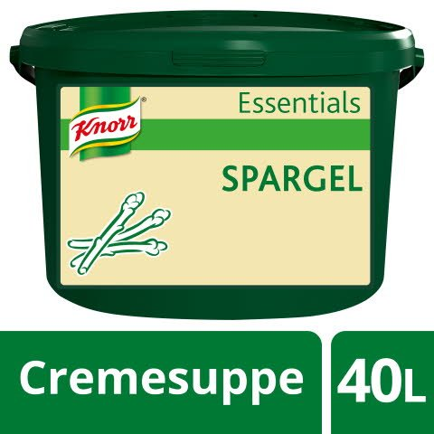 Knorr Essentials Clean Label Asparagus Soup (Spargel Cremesuppe) 3,2 KG -