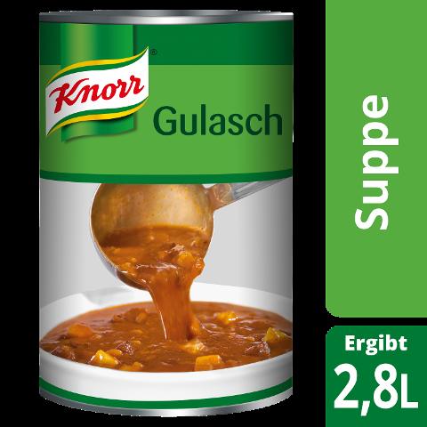 Knorr Gulaschsuppe 2,9 KG - KNORR Gulaschsuppe - mehr Rindfleisch und Kartoffelstücke hat keiner.