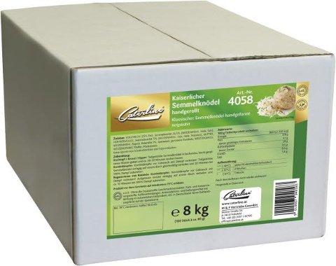 Caterline Kaiserlicher Semmelknödel handgerollt tiefgekühlt 3,6 KG (30 Stk. á ca. 120 g)