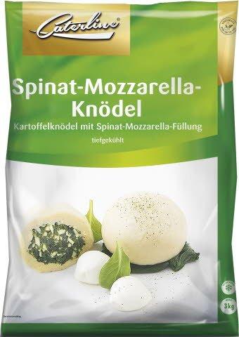 Caterline Kartoffelknödel mit Spinat-Mozzarella-Füllung 3 KG (30 Stk. á ca. 100 g) -