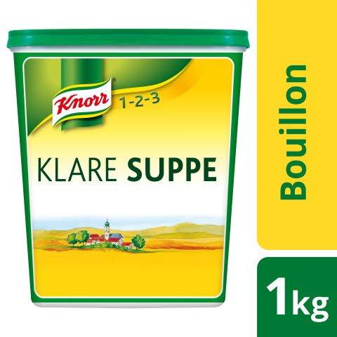 Knorr Klare Suppe rein pflanzlich 1 KG - KNORR Klare Suppe - für mehr Geschmack in vegetarischen Gerichten.