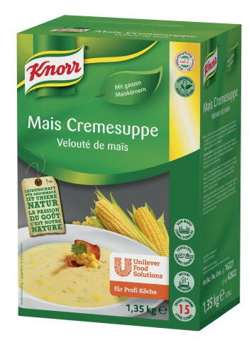 Knorr Mais Cremesuppe 1,35 KG -