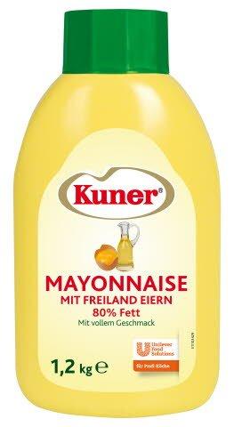 Kuner Mayonnaise 80% Fett 1,2 KG