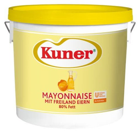 Kuner Mayonnaise 80% Fett 5 KG -