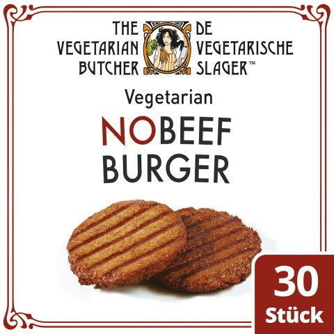 The Vegetarian Butcher - No Beef Burger - Vegetarischer Burger auf Soja-Basis 2,4kg -