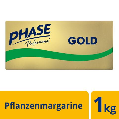 Phase Professional Gold - Die Alternative zu Butter auf Pflanzenöl- und Buttermilchbasis - 1kg