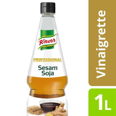 Knorr Professional Vinaigrette Sesam Soja 1 L - Hochwertig, kreativ und wie selbst gemacht - und so einfach!
