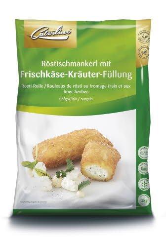 Caterline Röstischmankerl mit Frischkäse-Kräuter-Füllung 3 KG (50 Stk.à ca. 60 g)  -