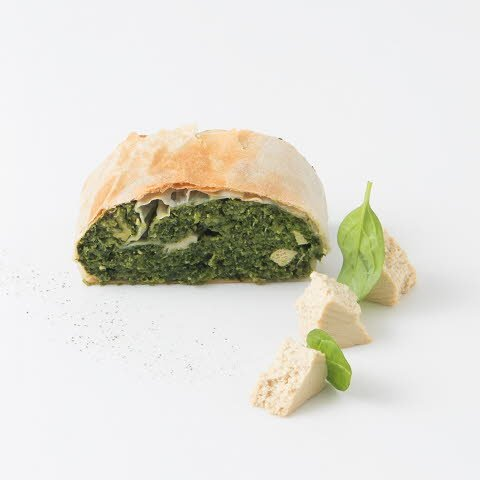 Caterline Spinatstrudel mit Tofu - vegan 4,5 KG (30 Stk. à ca. 150 g) -