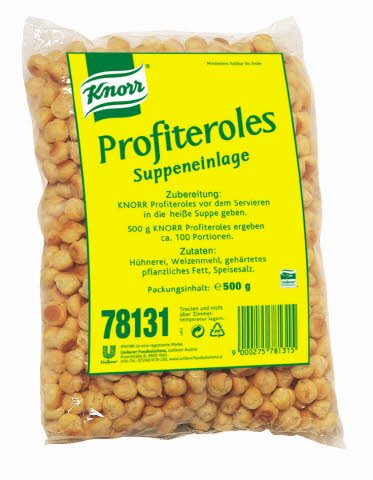 Knorr Suppeneinlage Profiteroles 500 g