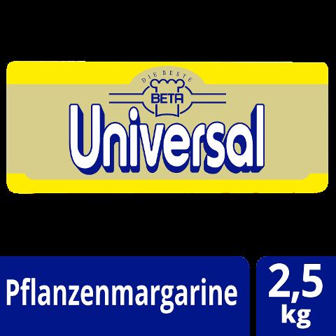 Beta Universal Pflanzenmargarine 80% Fett 2,5 KG - Unsere Margarine enthält keine deklarationspflichtige Allergene.