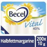 Becel Vital Halbfettmargarine 40% Fett 200 x 10 g