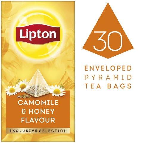 """Lipton Kamille & Honiggeschmack Kräutertee Pyramid 30 Beutel - """"Wir bieten denTee-Lifestyle von heute."""""""