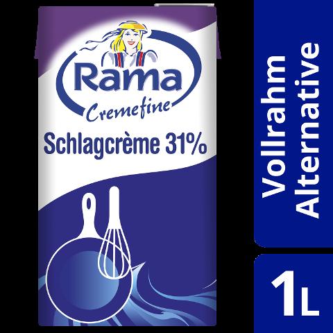 Rama Cremefine Schlagcrème - Alternative zu Sahne auf Pflanzenölbasis 1 L