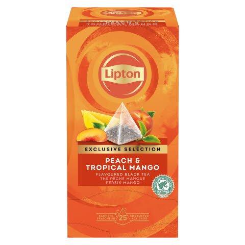Lipton aromatisierter Schwarztee Pfirsich & Tropische Mango Pyramide 6x25 Beutel