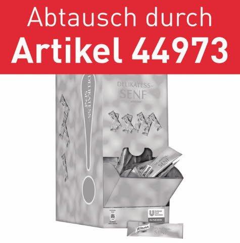 Knorr Senf 240x10ml - Abtausch durch Hellmann's Yellow Mustard 198x10ml (44973)