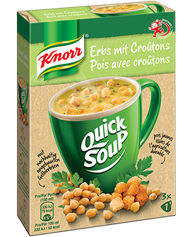 KNORR Quick Soup Erbs mit Croûtons 3 x 1 Tasse