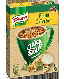 KNORR Quick Soup Flädli Suppe 3 x 1 Tasse