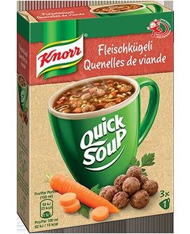 KNORR Quick Soup Fleischkügeli Suppe 3 x 1 Tasse