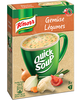 KNORR Quick Soup Suprême Sommergemüse Suppe 3 x 1 Tasse