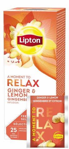 Lipton Früchtetee Ingwer Zitrone 25 Beutel