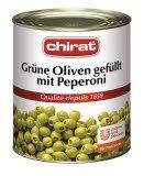Chirat Grüne Oliven gefüllt mit Peperoni 2,9 KG