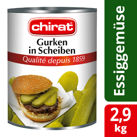 Chirat Gurken in Scheiben 2,9 KG
