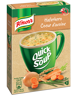 KNORR Quick Soup Haferkern Suppe 3 x 1 Tasse