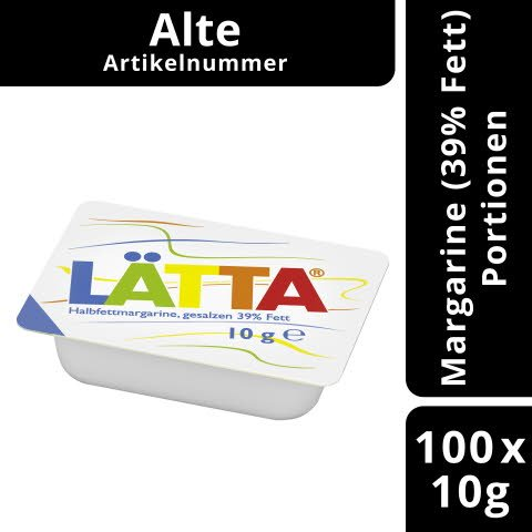 Laetta Halbfettmargarine, gesalzen 39% Fett 10 g