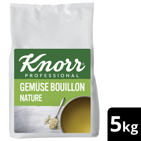 Knorr Professional Gemüse Bouillon Nature 5 KG - Knorr Gemüse Bouillon Nature - mit nachhaltig angebautem Gemüse für ausbalancierten Geschmack.