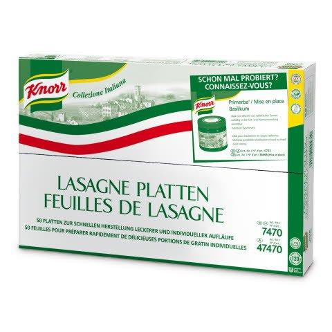 Knorr Pasta Lasagne-Platten 50 Stück (10 KG)