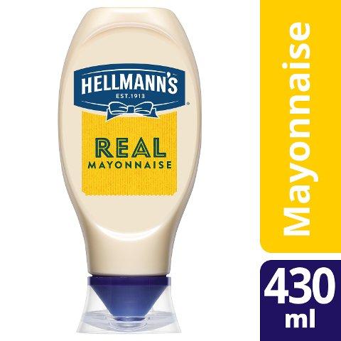Hellmann's REAL Mayonnaise 80% Fett 430 ml - Hellmann's REAL Mayonnaise - Hergestellt aus besten Zutaten.