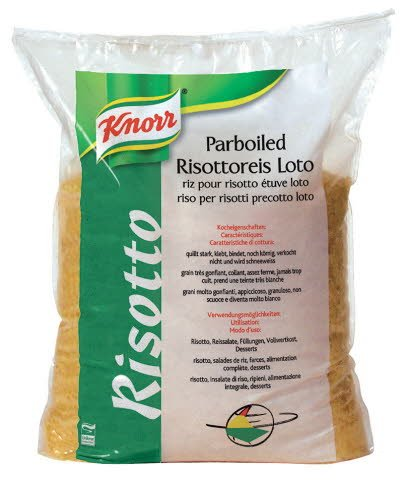 Knorr Parboiled Risottoreis Loto 25 KG