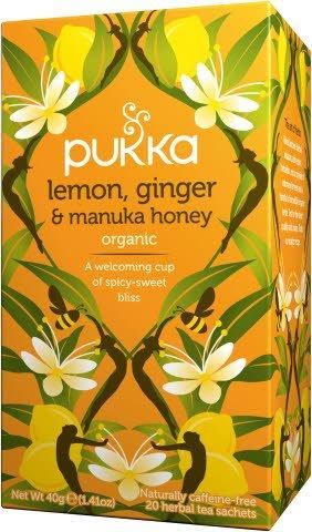 Pukka Bio Kräutertee Zitrone, Ingwer & Manuka-Honig 20 Beutel