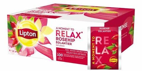 Lipton Hagebutte Früchtetee 100 Beutel -